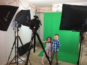 We put them next to a dragon with the green screen. They loved it!