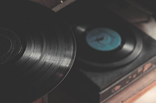 This is a photo of a record player and record