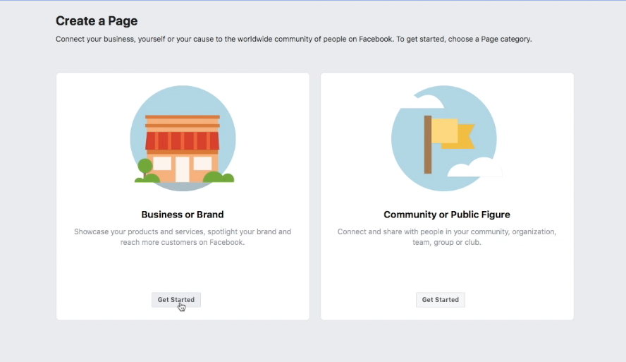Are you creating a business/brand or a community/public figure when making your business page?
