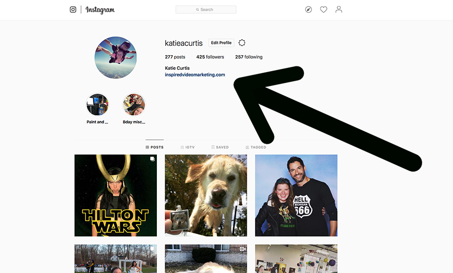 "This is what it looks like ""Before"" we add multiple links to our Instagram account."